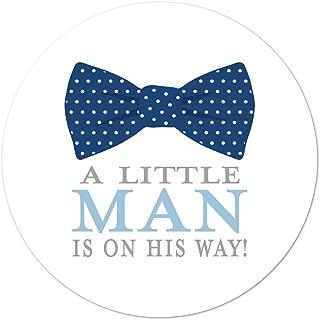 40 cnt Little Man Bow Tie Baby Shower Favor Sticker