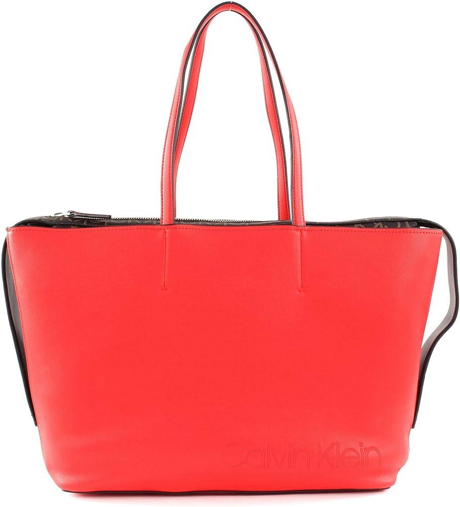 Calvin klein - attached shopper, borsa per donna , in ecopelle K60K605654