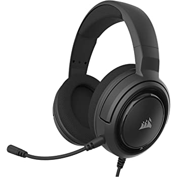 Corsair HS35 - Stereo Gaming Headset - Memory Foam Earcups - Headphones Work with PC, Mac, Xbox One, PS4, Switch, iOS and Android – Carbon (Renewed)