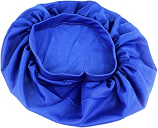 Refaxi New Blue Sleeping Hat Night Sleep Cap Hair Care Satin Bonnet Nightcap For Women Men