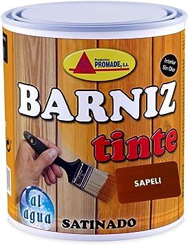 Promade - Barniz Tinte Satinado al Agua – Barniza, Decora y Protege Maderas de Interior -750 ml (Cerezo)