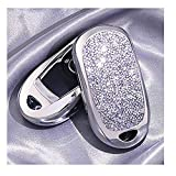 2 3 4 5 Buttons 3D Bling Smart keyless Entry Remote Key Fob case Cover for Buick Verano Regal Lacross Encore Envision Enclave GL8 2015 2016 2017 2018 Accessories (Silver)