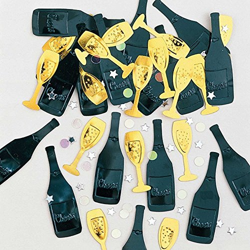 amscan 9900846 14 g Confettis métalliques Cheers