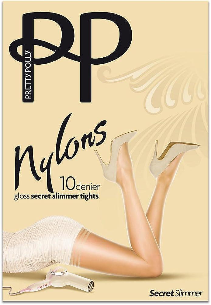 Pretty Polly Womens Nylons 10 Denier Slimmer Gloss Tights
