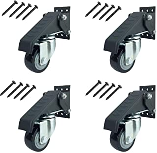 SUREH 4 pack Werkbank Caster Kit Heavy Duty Intrekbare Casters Swivel Caster Wielen met Veiligheidsvergrendeling Rem Verst...