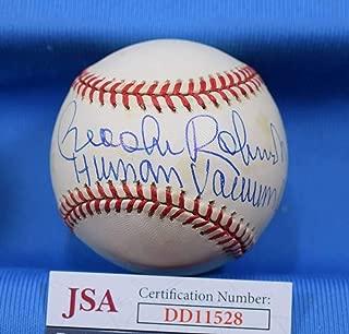 BROOKS ROBINSON Human Vacum JSA Coa Autograph American League Signed BasebaLL