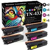 (5-Pack, 2X BK+C+M+Y) Compatible TN436 TN433 Toner Cartridge TN-433 Used for Brother MFC-L8900CDW L8360CDWT L8610CDW L8900CDW L8610CDW HL-L8260CDW L8260CDW L8360CDW L8260CDW Printer, by Colorprint -  CP-BR-TN433-LINE-5
