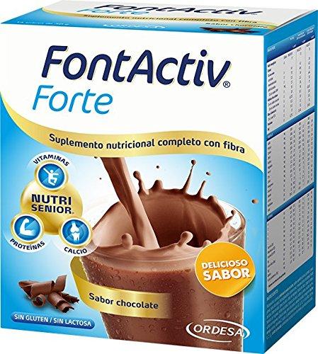 Fontactiv Forte Chocolate - 14 Sobres de 30gr - Suplemento Nutricional para adultos y mayores - 1 o 2 sobres al día.