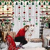 Pancarta de Arbol de Navidad ZERHOK Guirnalda de Estrellas de Navidad de Papel Banderines Colgantes Navideños para Decorar el Techo Fietas de Navidad Nochebuena Año Nuevo Jardines