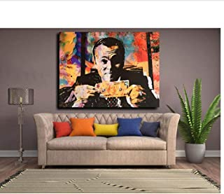 caomei HD Canvas Print Home Wall Decor Art Painting Wolf of Wall Street Money Talks Abstract Canvas Wall Art Invincible 60x80cm No Frame