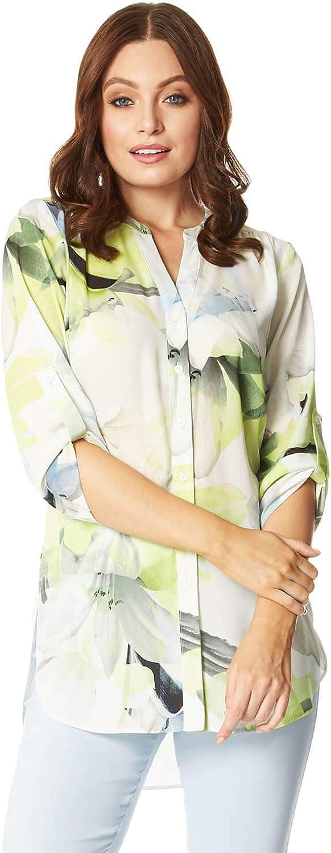 Roman Originals Women Max 48% OFF Floral Shirt Print Collarless Top price