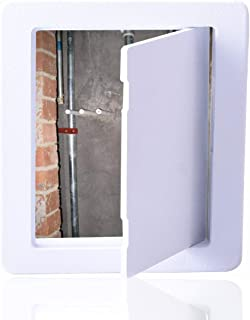 Reinforced Hinged Plastic Access Panel for Drywall Ceiling 8 x 8 Inch White Access Doors Reinforced Hinged Access Panel