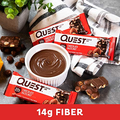 Quest Nutrition Chocolate Hazelnut Protein Bar, High Protein, Low Carb, Gluten Free, 12 Count 4