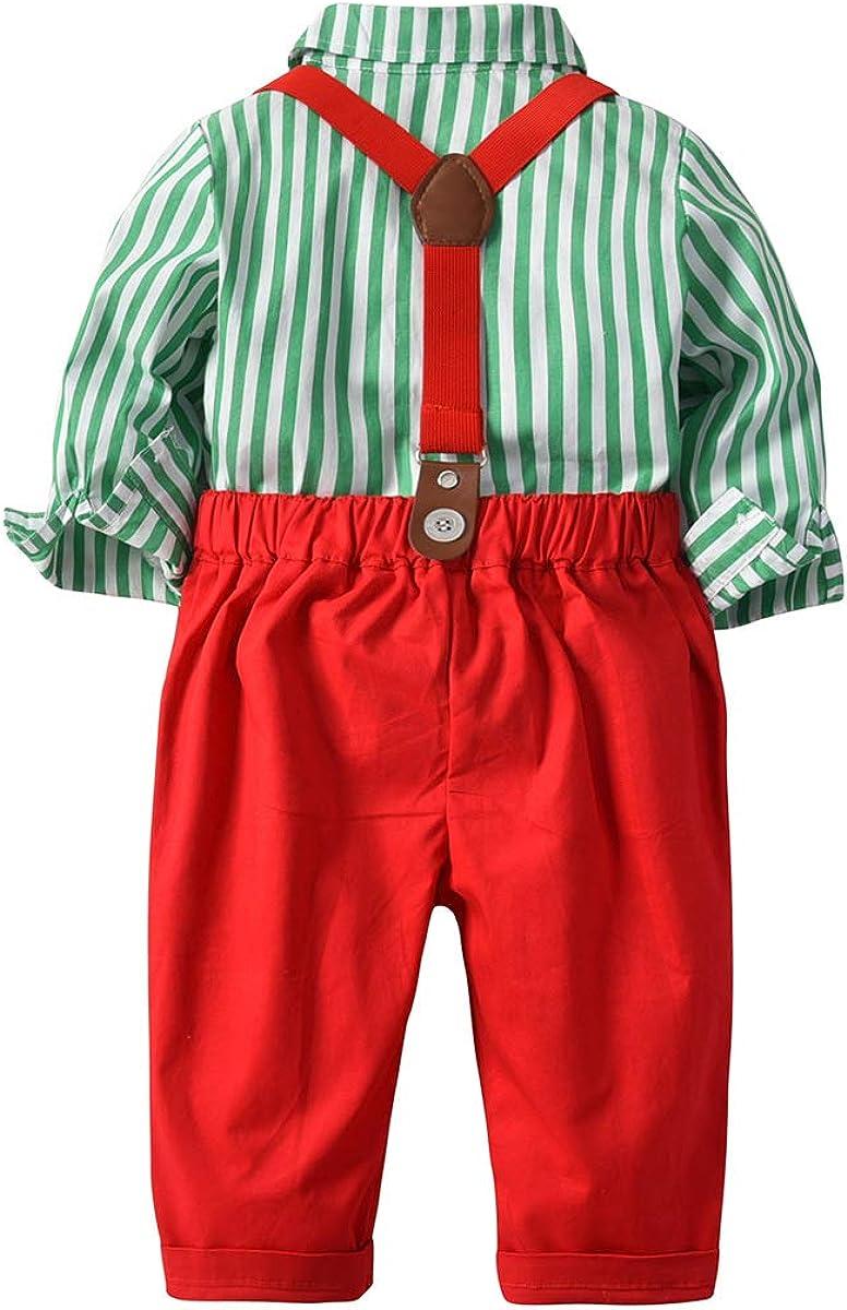 Fairy Baby Baby Boys Abito di Natale Camicia Papillon Pantaloni Costumi di Natale per Bambini