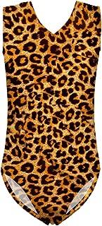 INSTANTARTS Leopard Leotard Girl Gymnastics Toddler Tank Biketards One Piece