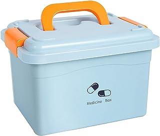 HLYT-0909 Boîte de Rangement Pack Familial, boîte de Rangement Multicouche for Petits médicaments, boîtier de médicaments ...
