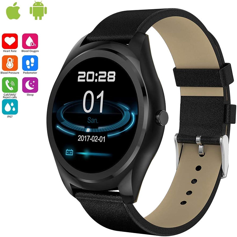 JIHUIA Fitness Tracker Aktivitt Clever sehen, Wasserdicht IP67 Puls Schlafen Monitor Schrittzhler  Kalorie Zhler  GPS Blautooth Anruf Botschaft Sitzend Erinnerung zum iOS und Android