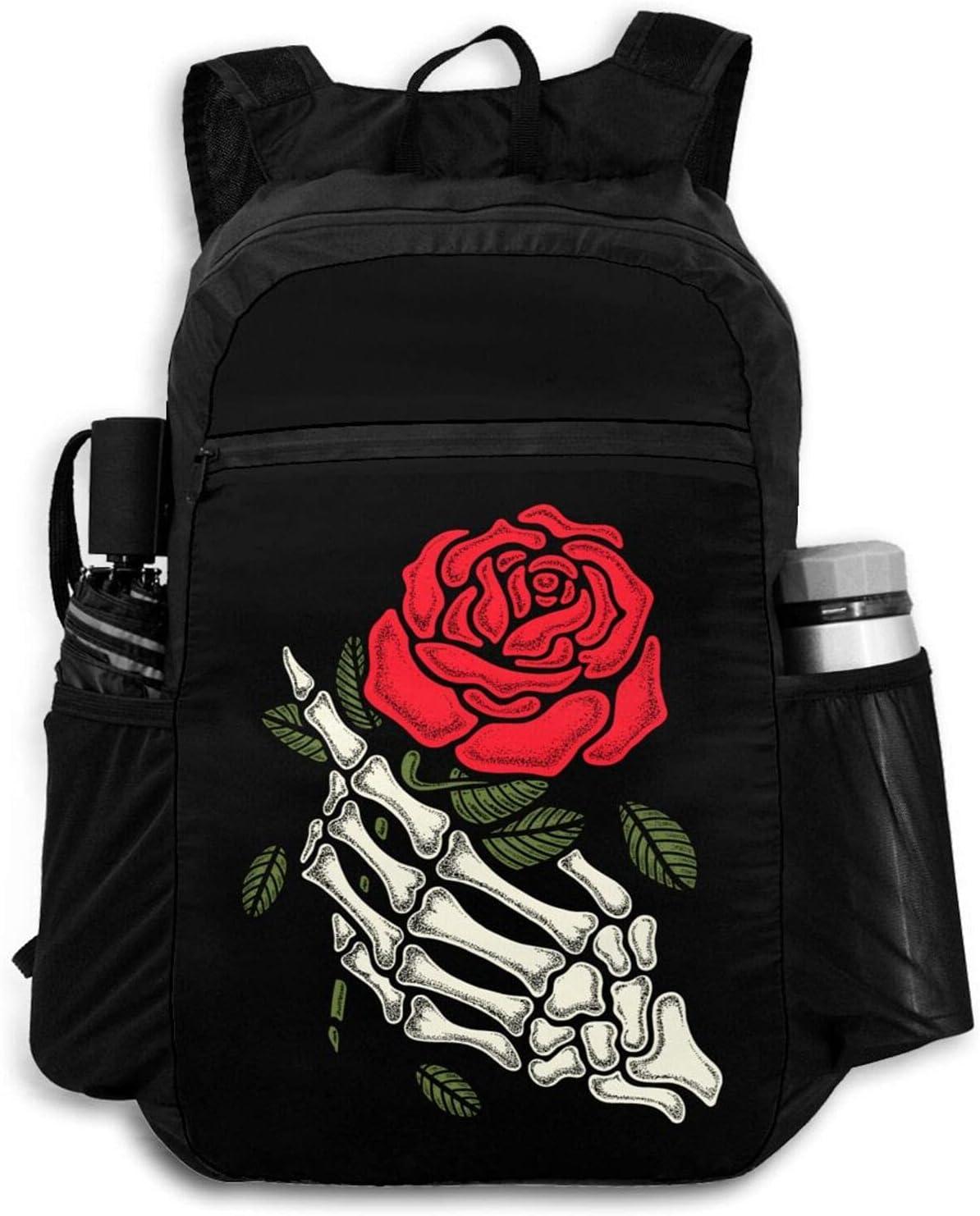 Zolama Skeleton Max 62% OFF Rose Backpacks for Women Men Cute San Jose Mall Daypa Packable