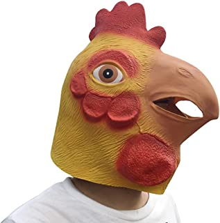 Simplylin Halloween Horror Toy,Novelty Chicken Animal Head Costume Masks Halloween Party Cosplay Decorations