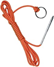 10 Foot 550lb Paracord Fishing Stringer Fish Holder with Metal Threading Needle and 1..