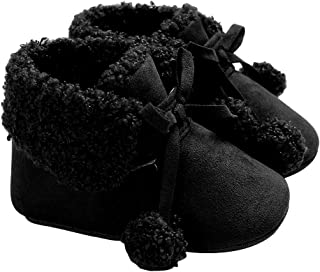 [OUPU] ベビーシューズ ブーツ ファーストシューズ 冬 お祝い 出産祝い 室内 ルーム用 アウトドア 保温 防寒 ふわふわ もこもこ 柔らかい ソフト 可愛い 滑り止め 歩行練習