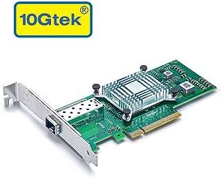 10G PCI-E NIC ネットワークカード シングルSFP+ポート PCI Express イーサネット LANアダプターサポートWindows Server/Linux/VMware, X520-10G-1S-X8, PCI-E2.0 X 8, PCサーバ用