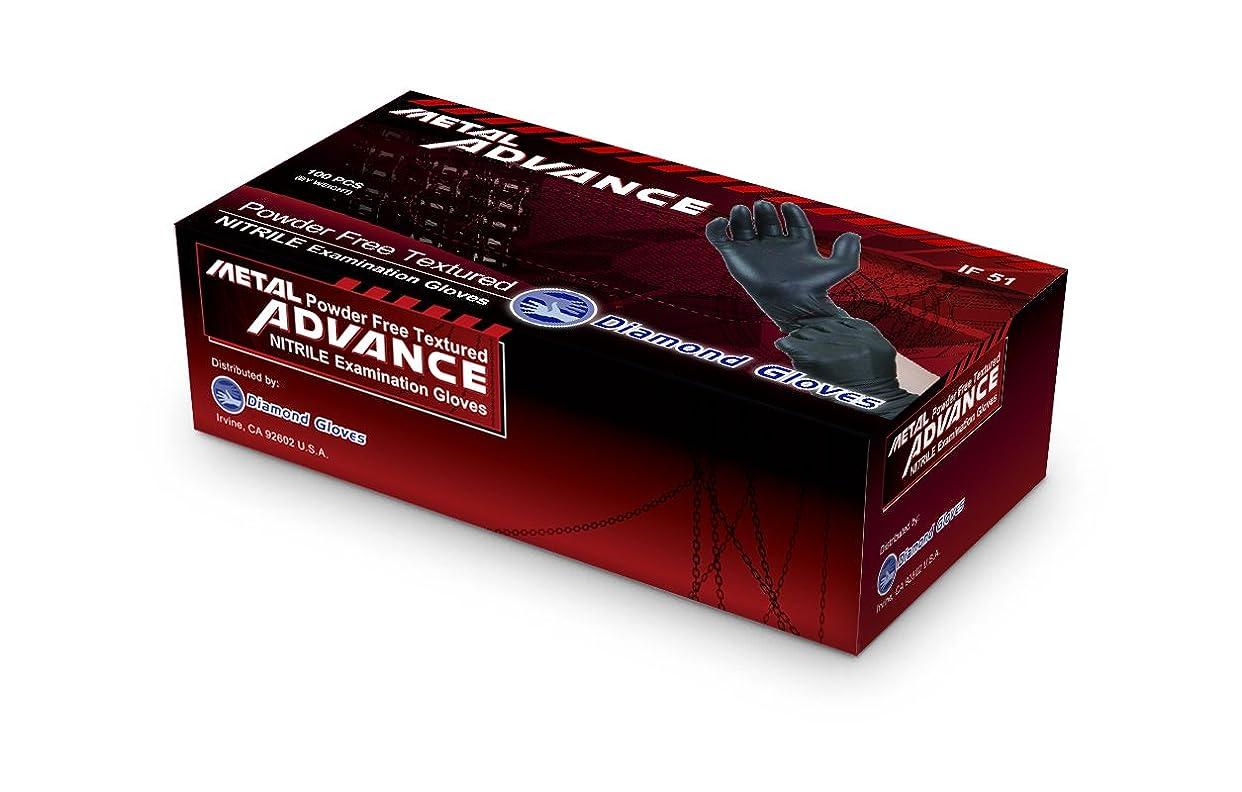 謝るばか混乱させるDiamond Gloves Advance Soft Nitrile Industrial Examination Grade Powder Free Gloves 5 mil Black, (Latex Free) (CE, FDA) (Maximum Protection (1000/Case, L) by Diamond Gloves