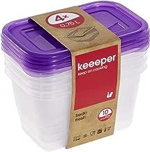 2L Redondo 6/Piezas en Color Morado Juego de 6 keeeper Alimentos Caja Fredo Fresh 0