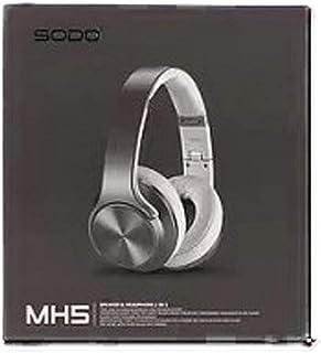 SODO MH5 NFC 2In 1 Twist-Out Speaker+Wireless Bluetooth Headphone - Grey