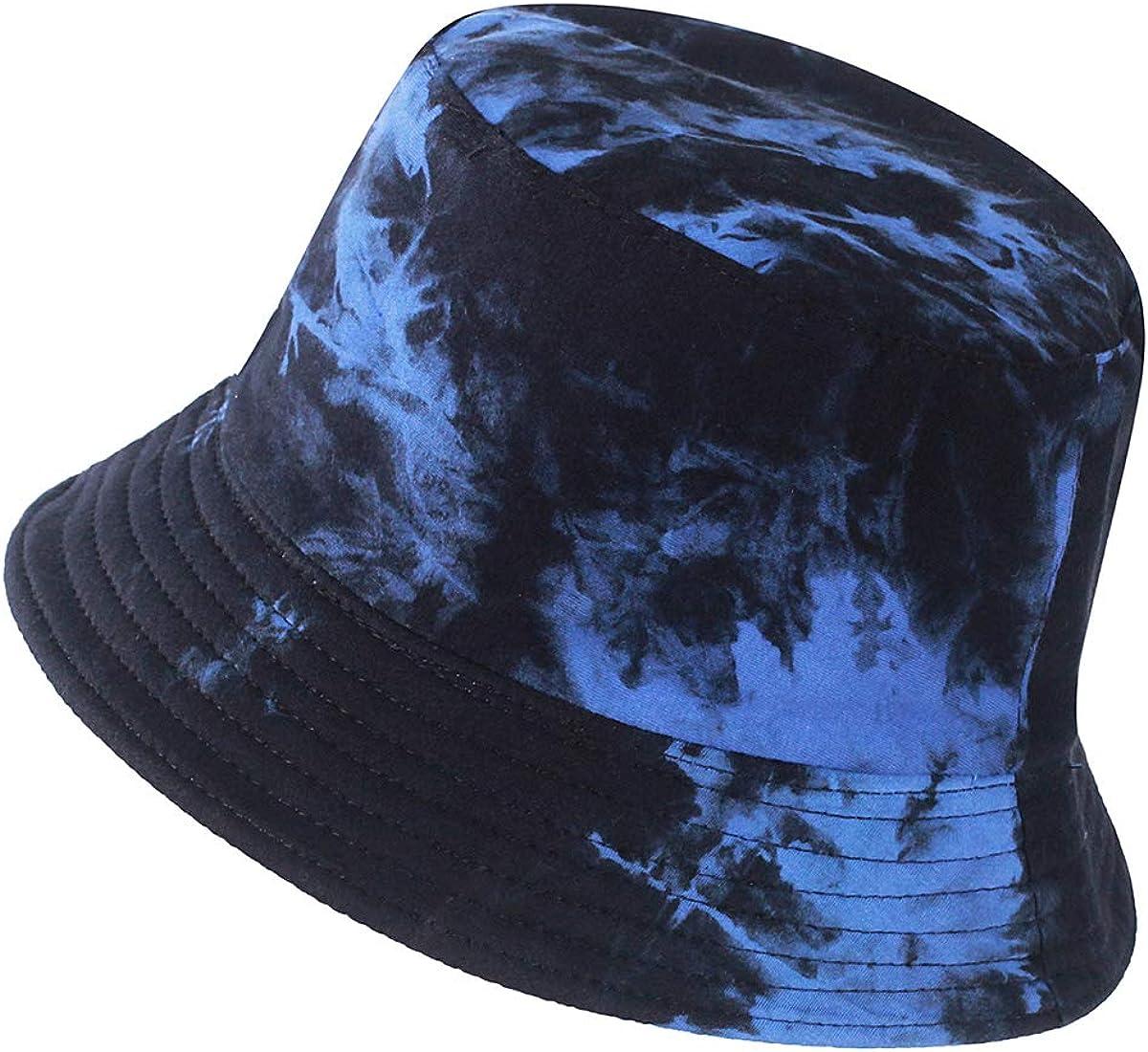 XUYI Cotton Bucket Hats Unisex Tie Dye Hat Outdoor Summer Cap Hiking Beach Sports