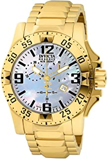 Men's 6257 Excursion Collection Chronograph 18k Gold-Plated Stainless Steel Watch