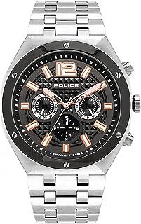 Police Watches kediri Mens Analog Quartz Watch with Stainless Steel Bracelet PL.15995JSTU-61M