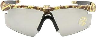 EnzoDate - Gafas de sol del ejército Polarized fotocromía de transición Gafas militares balísticos Hombres Frame 3/4 Juego de guerra del combate de la lente Eyeshields
