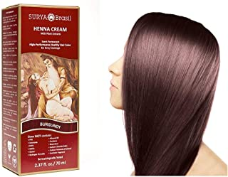Surya Brasil Products Henna Cream, Burgundy, 2.37 Fluid Ounce