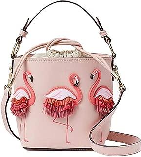 Fashion Women Bags PU Leaather Female Flamingo Bucket Bag Women Shoulder Bags Designer Handbags Pink