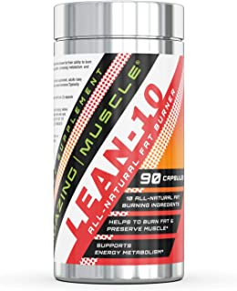 Amazing Muscle Lean 10 Fat Burner - 90 Capsules - 30 Servings - Accelerates Fat Burning - Helps to Preserve Muscle Tissue - Provides Metabolism & Energy Support