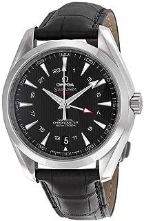 Omega Seamaster Aqua Terra Black Dial GMT Mens Watch 23113432201001