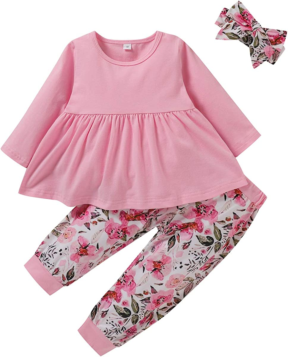 RCPATERN Toddler Girl Clothes Baby Girls Winter Long Sleeve Top Dress + Butterfly Print Pants Big Sister Outfits Clothing Set