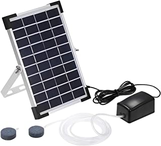 Solar Oxygen Air Fountain Pump, Solar Powered Watering Submersible Pump Kit with Aquarium Oxygen Pipe and Air Bubble Stone, Outdoor Oxygenator Aerator for Garden Fish Tank Pool Fishing Pond