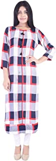 Vihaan Impex Indian Kurtis For Women Tunic Tops Rayon Women Kurta Dress For Office or Home Multicolor