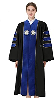 GraduationMall Deluxe Custom Doctoral Graduation Gown for Faculty and Professor Phd