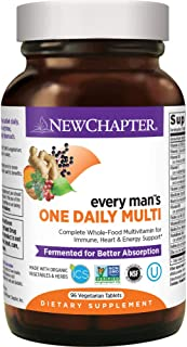 New Chapter Men's Multivitamin, Every Man's One Daily Fermented with Probiotics..