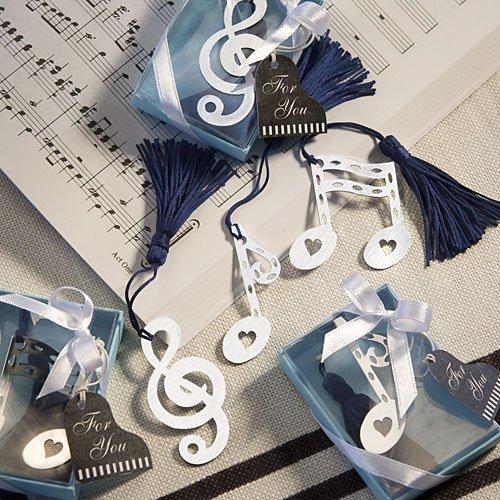 Bomboniera segnalibro forma nota musicale, chiave di violino cod 397
