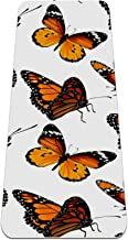 Vlinders antislip yogamat - milieuvriendelijke TPE dikke fitnessoefenmatten ideaal voor pilates, yoga en vele andere thuis...