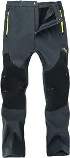 Women's Outdoor Windproof Fleece Lined Hiking Pants Waterproof Snow Ski Pants