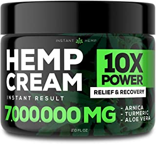 Sponsored Ad - Instant Hemp Pain Relief Cream - Relieve Muscle, Joint & Arthritis Pain - Natural Hemp Extract for Arthriti...