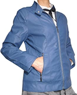 new styles 7999f 07450 Amazon.it: Giacca Pelle Blu