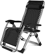 High-quality recliner Sun Lounger Sun Loungers Garden Outdoors, Zero Gravity Oversized Patio Deck Chair Reclining Folding Portable Recliners Supports 200kg (Color : Silver)