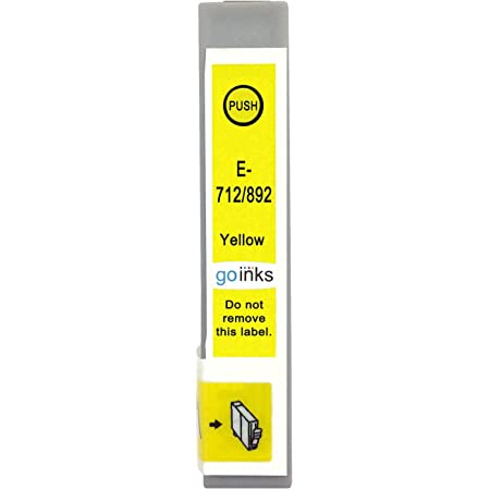 Go Inks E 714 Kompatible Gelbe Tintenpatrone Als Ersatz Für Epson T0714 Zur Verwendung Mit Epson Stylus Druckern 1 Stück Bürobedarf Schreibwaren