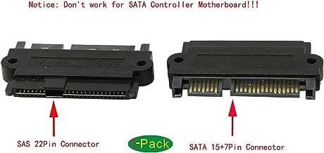 zdyCGTime SAS 22 Pin to 7 Pin + 15 Pin SATA Hard Disk Drive Raid Adapter with 15 Pin Power Port